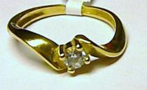 Soliter Krásný zásnubní prsten ze žlutého zlata se zirkonem 585/2,30gr S037