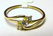 Soliter zlatý prstýnek se třemi zirkony 585/1,2gr S038