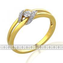 Pretis Diamantový prsten ze žlutého zlata s 11ks diamantů 585/2,3gr