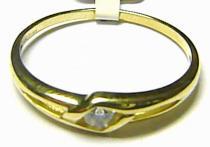 Pretis Zásnubní zlatý prstýnek ze žlutého zlata 585/1,3gr P170