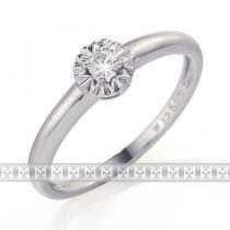 Pretis Zásnubní diamantový prsten z bílého zlata s velkým diamantem 1ks 0,08ct