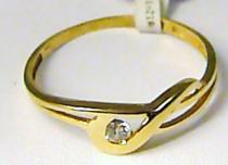 Pretis zlatý prsten se zirkonem 585/0,97gr P409
