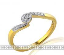 Pretis Diamantový prsten ze žlutého zlata 585/1,9gr diamanty 17ks/0,11ct