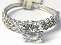 Pretis Zásnubní zlatý prsten se zirkony 585/1,90gr P473