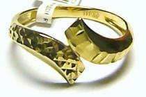 Pretis zlatý gravírovaný prsten ze žlutého zlata 585/1,82gr P117
