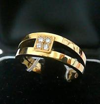 Pretis diamantový prsten se čtyřmi diamanty a žlutého zlata 585/5,87