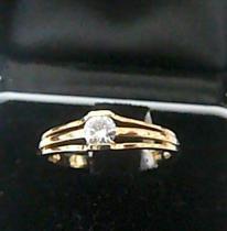 Pretis Zlatý zásnubní prstýnek diamantem 585/2,3gr