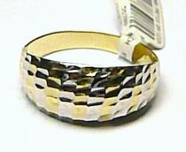 Pretis zlatý prsten z bílého a žlutého zlata 585/1,92gr P416