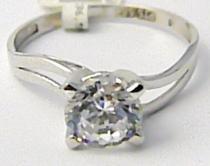 Pretis Zásnubní prstýnek z bílého zlata se zirkonem 585/2,2gr P482