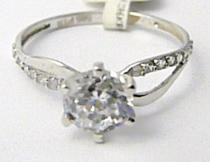 Pretis Zásnubní prsten z bílého zlata posetý zirkony 585/1,60gr P483