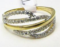 Holan Jaroslav zlatý prsten posetý zirkony 60ks 585/1,89gr H250