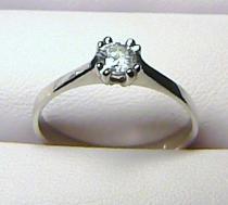 Zlatokov Zásnubní zlatý prsten z bílého zlata s velkým zirkonem/2,3gr Z014