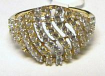 Holan Jaroslav velký zlatý prsten posetý zirkony 585/1,76gr H215