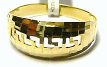 Pretis zlatý prsten ze žlutého zlata 585/1,7gr P070