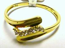 Pretis zlatý prstýnek se zirkony 585/1,25gr P074 °
