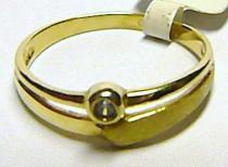 Pretis Zásnubní prsten z matného žlutého zlata 585/1,62gr P076