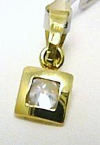 Pretis Zlatý přívěsek s gravírováním osazený jedním zirkonem 585/0,62gr P310