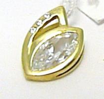 Pretis velký zlatý přívěsek se zirkony 585/1,55gr P311