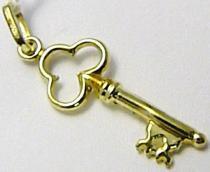 Marcello Diamant Zlatý přívěsek velký klíček 585/0,75gr T172