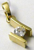 Marcello Diamant zlatý přívěsek se zirkonem 585/0,85gr T173