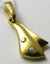 Marcello Diamant zlatý přívěsek se zirkony 585/0,75gr T176