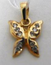 Holan Jaroslav Zlatý přívěsek motýlek 585/0,69gr H329