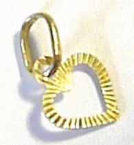 Marcello Diamant Zlatý přívěsek srdíčko s gravírováním 585/0,25gr T108