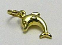 Marcello Diamant Zlatý přívěsek delfín ze žlutého zlata 585/0,4gr T128