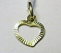 Marcello Diamant srdíčko - zlatý přívěsek ze žlutého zlata 585/0,45gr T133