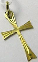 Marcello Diamant Zlatý křížek s gravírováním - přívěsek 24mm x 13mm 585/0,45gr T171