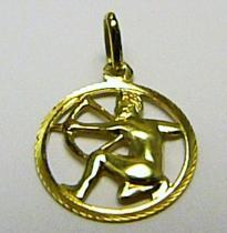 Marcello Diamant Zlatý přívěsek znamení STŘELEC 585/0,75gr T144