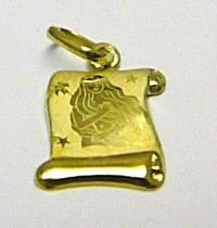 Marcello Diamant Zlatý přívěsek znamení PANNA na pergamenu 585/0,40gr T146