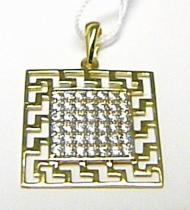 Holan Jaroslav velký zlatý přívěsek posetý zirkony 36ks 585/1,73gr H423