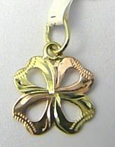Pretis Zlatý křížek z dvojího zlata a s gravírováním 585/0,50gr P530