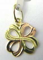 Pretis Zlatý křížek z dvojího zlata a s gravírováním 585/0,50gr P531
