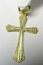 Marcello Diamant zlatý křížek - přívěsek s gravírováním 585/0,40gr - 28x18mm T077
