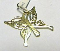 Pretis zlatý přívěsek motýlek 585/0,32gr P230