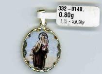 Pretis Zlatá madona s dítětem - zlatý přívěsek 585/3,35gr