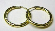 Marcello Diamant kruhy ze žlutého zlata 585/0,55gr T169