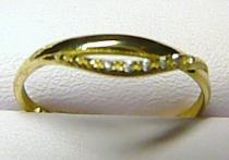 Soliter zlatý prstýnek se zirkony/1,1gr S053
