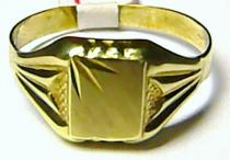 Marcello Diamant zlatý prsten ze žlutého zlata 585/2,3gr T083