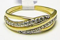 Holan Jaroslav prsten ze žlutého zlata se zirkony 585/1,66gr H357
