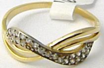 Holan Jaroslav zlatý prsten posetý zirkony 21ks 585/1,33gr H532