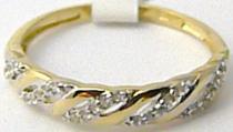 Holan Jaroslav zlatý prsten posetý zirkony 25ks 585/1,70gr H533