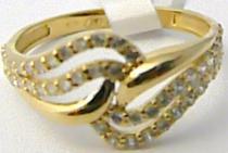 Holan Jaroslav zlatý prsten posetý zirkony 52ks 585/1,79g H534