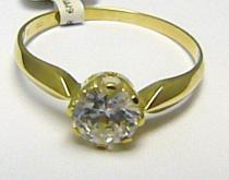 Pretis zásnubní zlatý prsten s velkým zirkonem 585/1,42gr P546