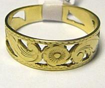 Pretis zlatý prsten s gravírováním 585/3,34gr P361