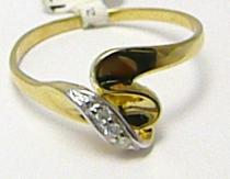 Pretis zlatý prstýnek se zirkony 585/1,5gr P286