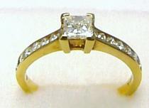 Zásnubní prsten s diamanty 585/2,85g P350