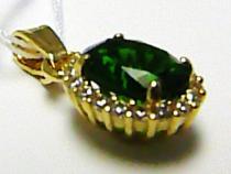 Holan Jaroslav LUuxsní přívěsek s velkým zeleným smaragdem 585/1,32gr H419